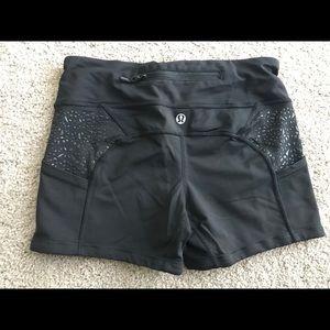 lululemon work out compression shorts